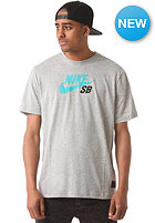 NIKE SB SB Icon Logo S/S T-Shirt dk grey heather/turbo green