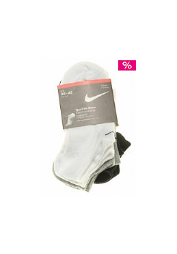 NIKE SPORTSWEAR 3 Pack Value No Show Socks black/white/grey heather