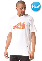 NIKE SPORTSWEAR Air Collage S/S T-Shirt white/dk grey heather/team orange