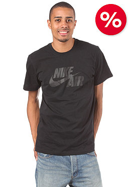 NIKE SPORTSWEAR Air Logo S/S T-Shirt black/dark grey heather