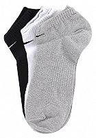 NIKE SPORTSWEAR Cotton No Cushion No Show 3 Pack Socks white/grey/black