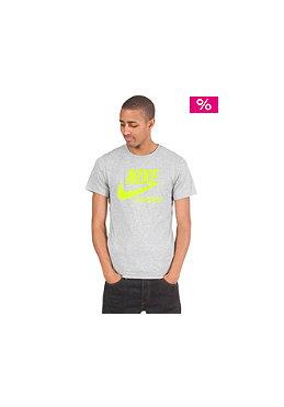 NIKE SPORTSWEAR Futura Crackle S/S T-Shirt dk grey heather/volt