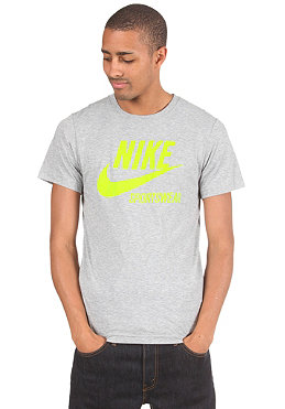 NIKE SPORTSWEAR Futura Crackle S/S T-Shirt dk grey heather/volt