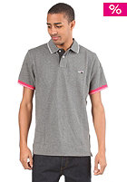 NIKE SPORTSWEAR Grand Slam Shoe S/S Polo Shirt blackened heather/white/scarlet fire