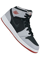 NIKE SPORTSWEAR Kids Air Jordan 1 Mid Bg black/gym red-wolf grey