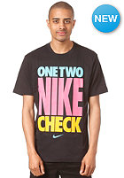 NIKE SPORTSWEAR One Two Nike Check S/S T-Shirt black/dk grey heather