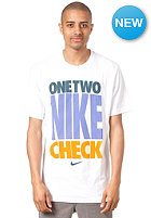 NIKE SPORTSWEAR One Two Nike Check S/S T-Shirt white/dk grey heather