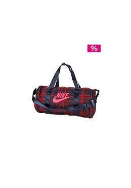NIKE SPORTSWEAR Race Day Medium Duffel Plaid Bag deep burgundy/solar red/
