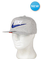NIKE SPORTSWEAR Retro Fleece Snapback Cap grey heather/pine green/game royal