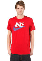 NIKE SPORTSWEAR Sportswear Icon S/S T-Shirt gym red/dark grey heather/hyper red