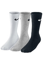 NIKE SPORTSWEAR Value Cotton Crew Socks 3 Pack grey heather/(black)/white/(bl