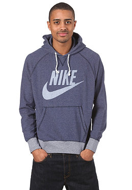 NIKE SPORTSWEAR Vintage Marl Logo Hooded Zip Sweat ink blue heather/sail