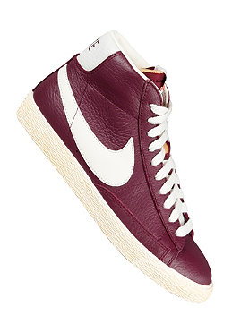 NIKE SPORTSWEAR Womens Blazer Mid Leather Vintage bordeaux/sail-gum med brown