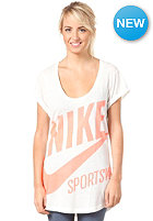 NIKE SPORTSWEAR Womens Exploded Nsw S/S T-Shirt sail/dk grey heather/total crimson