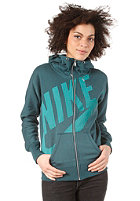 NIKE SPORTSWEAR Womens FZ Hooded Zip Sweat dk atomic teal/atomic teal