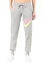 NIKE SPORTSWEAR Womens Relaxed Cuffed Sweat Pant dark grey heather/electric yellow