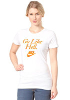 NIKE SPORTSWEAR Womens RU Go Like Hell S/S T-Shirt white