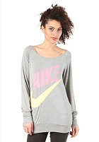 NIKE SPORTSWEAR Womens Sportswear LS Top dark grey heather/polarized pink