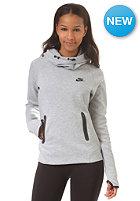 NIKE SPORTSWEAR Womens Tech Fleece Hooded Sweat dk grey heather/black/black