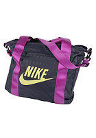 NIKE SPORTSWEAR Womens Track Tote Bag obsidian/laser purple/(electric yellow)
