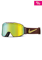 NIKE VISION Fade Goggles barkroot brown/gold - gold ion + yellow red ion