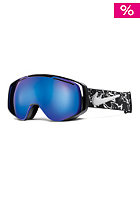 NIKE VISION Khyber Goggles black/white floral - dark smoke blue + pink ion