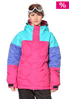 NIKITA Cinemascope Jacket scuba blue/dazzling blue/sangria