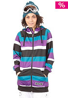 NIKITA Robson Fleece Jacket black/white/purple magic/ocean depths