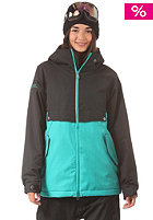 NIKITA Womens Boxwood Jacket jet black/trobic green