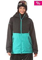 Womens Boxwood Jacket jet black/trobic green