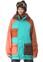 NIKITA Womens Creekside Jacket tropic green/raven/nasturtium