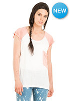 NIKITA Womens Dampier S/S T-Shirt snow white/ peach amber