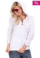 Womens Exotic Hooded Zip Sweat white
