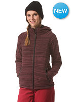 NIKITA Womens Farrow Fleece Hooded Jacket wine/jet bla