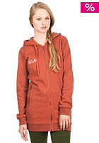 Womens Fitzroy Hooded Zip Sweat cayenne