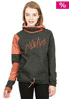 NIKITA Womens Garfield Hooded Sweat arabian spice/baked clay/jet black