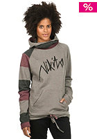 NIKITA Womens Garfield Hooded Sweat wine/castle rock/jet black