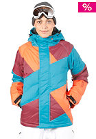 NIKITA Womens Manaslu Jacket ocean depths/volcanic red/nasturtium