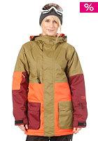 NIKITA Womens Maroon Jacket moss/nasturtium/volcanic red