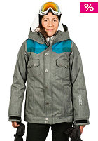 NIKITA Womens Mayon Snow Jacket jet black/caribbean