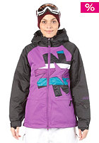 NIKITA Womens Okmok Jacket black/white/purple magic/ocean depths