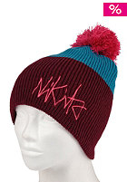 NIKITA Womens Speke Beanie volcanic red/ocean depths/shocking pink