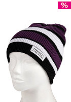 NIKITA Womens Stromboli Beanie pirate black/white/purple magic/scuba blue
