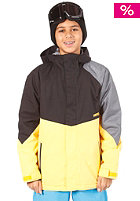 Boys White Riot Jacket 13 black/yellow/green