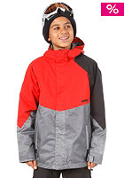 NITRO Boys White Riot Jacket 13 red/grey xerox