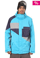NITRO Decades Jacket 2012 acid blue slub twill