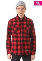 NITRO Doorgunner L/S Shirt red/black buffalo