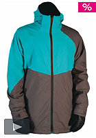 NITRO White Riot Jacket 2012 cold metal/turquoise