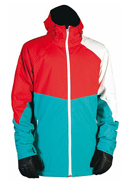 NITRO White Riot Jacket 2012 turquoise/red/white