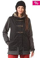 NITRO Womens Brooks Snow Jacket black woolen twil